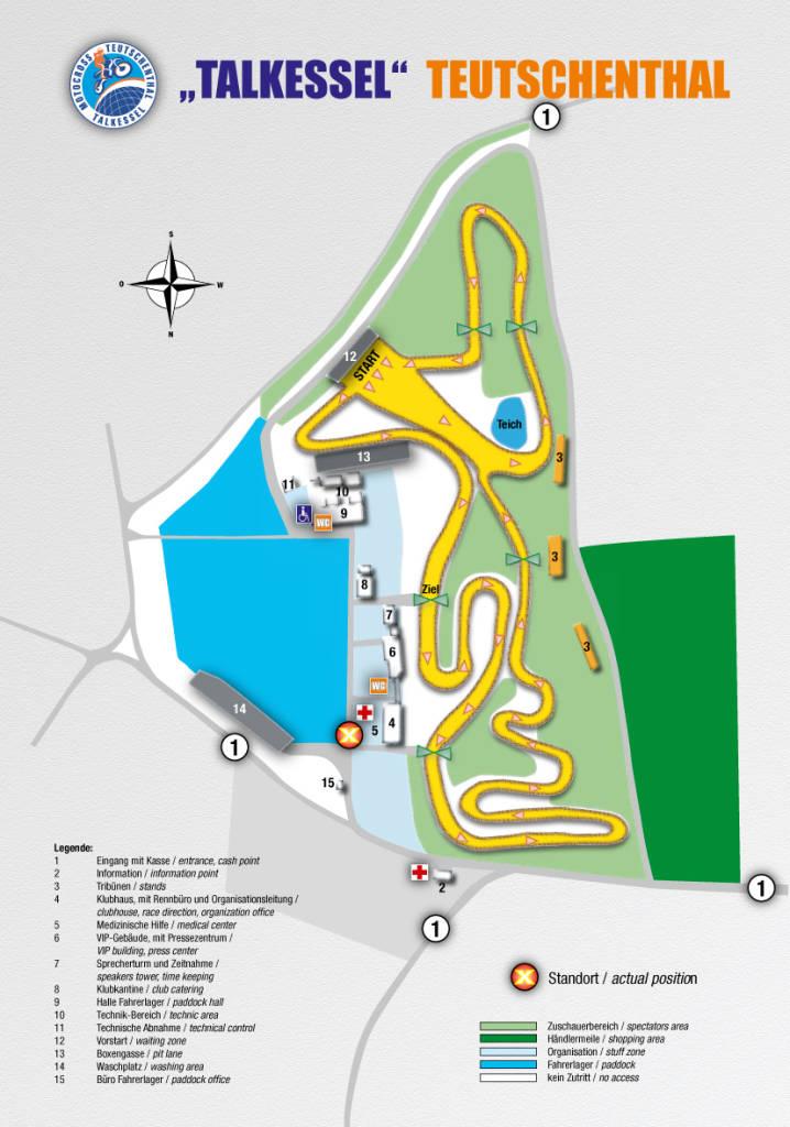 Lageplan Rennstrecke Talkessel Teutschenthal