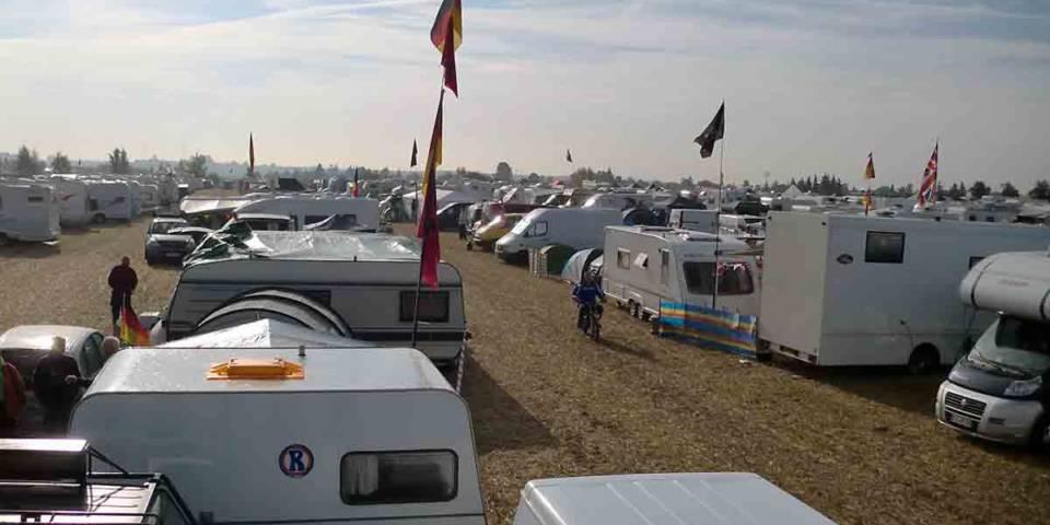 Campingplatz beim MXoN 2013 im TALKESSEL Teutschenthal