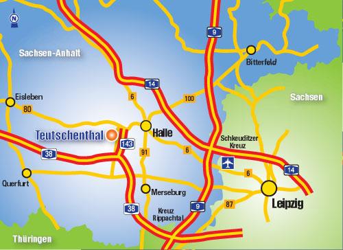 Anfahrt Talkessel Teutschenthal