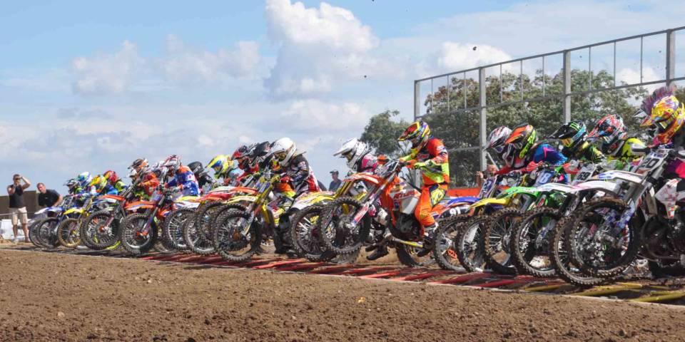 Start bei der Motocross Landesmeisterschaft Sachsen-Anhalt 2016 im TALKESSEL
