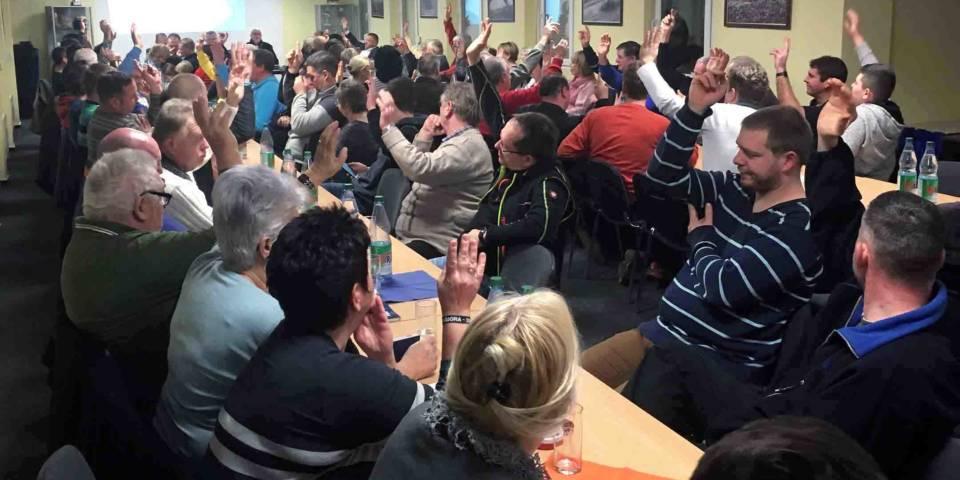 Etwa 70 Mitglieder nahmen an der MSC Jahreshauptversammlung teil.