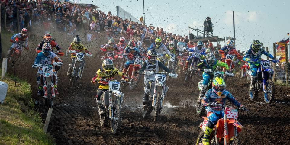 Start zum zweiten Lauf in der MXGP-Klasse zum Grand Prix of Germany 2017 im Talkessel Teutschenthal