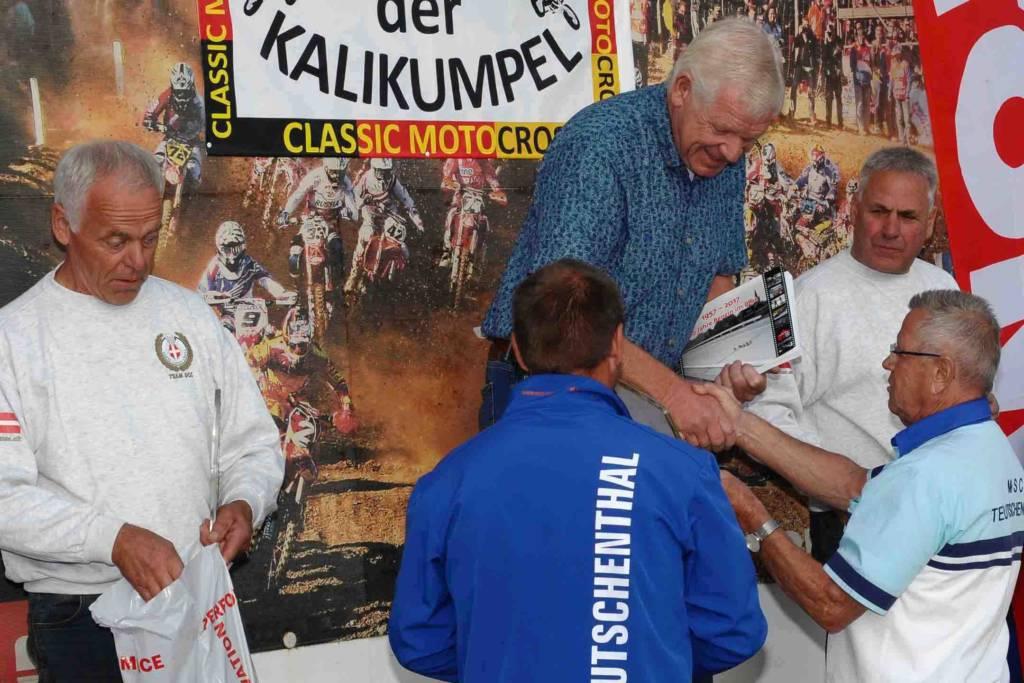 Classic-Rennen: Podium Classic-Klasse, über 66 Jahre