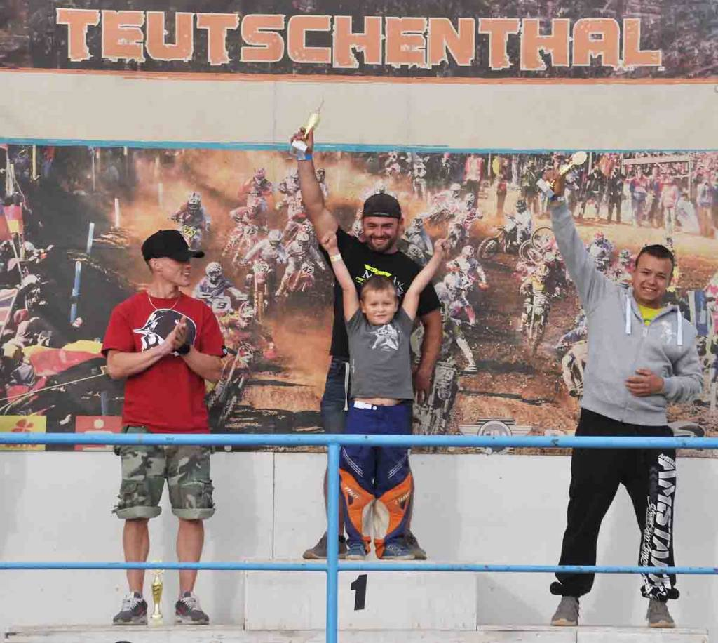 Siegerpodium Landesmeisterschaft Sachsen-Anhalt 2018 Teutschenthal Klasse ClubsportPro