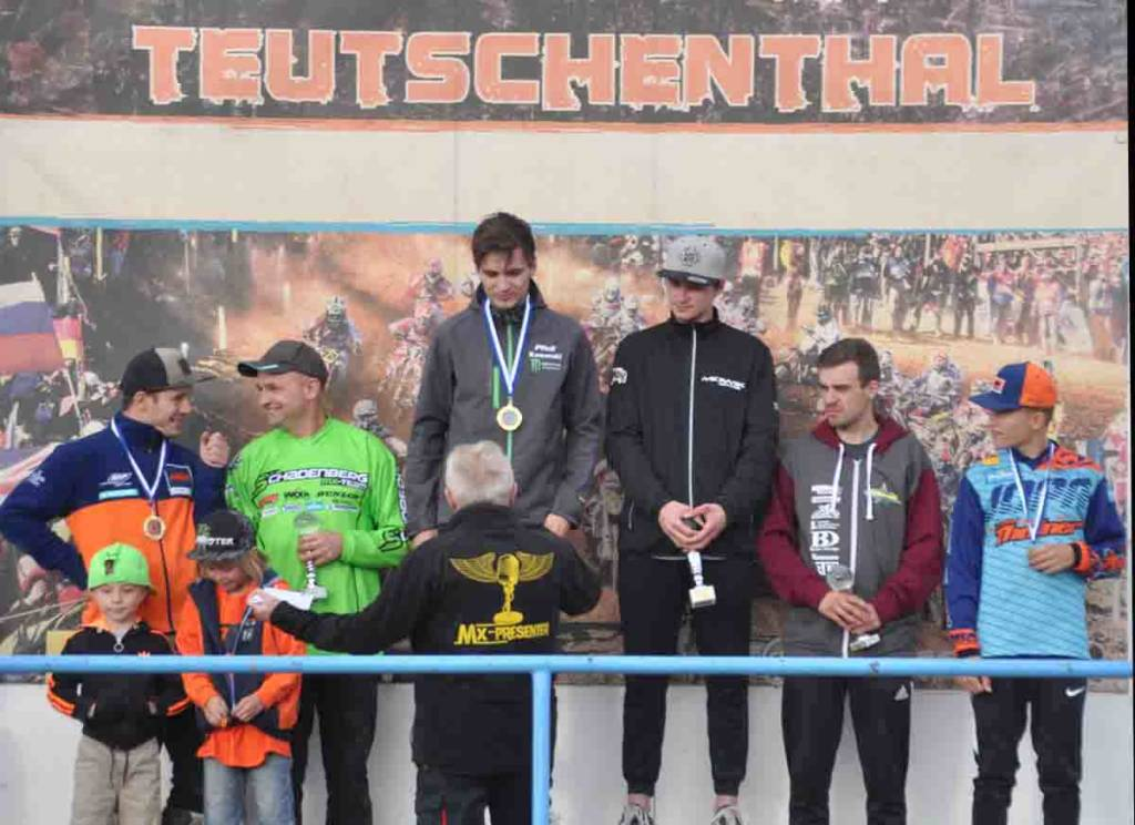 Siegerpodium Landesmeisterschaft Sachsen-Anhalt 2018 Teutschenthal Klasse MX1