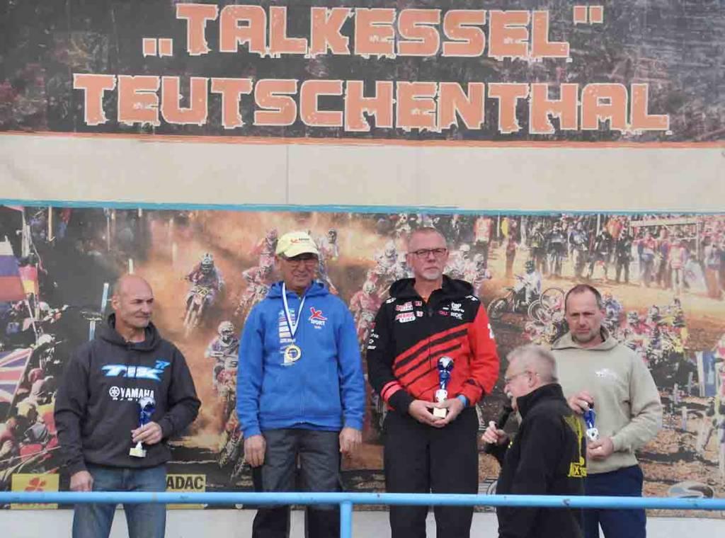 Siegerpodium Landesmeisterschaft Sachsen-Anhalt 2018 Teutschenthal Klasse Senioren Ü50