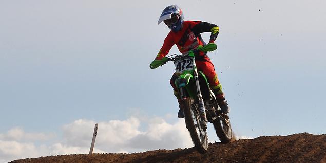 Eric Jette 2018 beim MX2-Lauf zur Landesmeisterschaft Sachsen-Anhalt im Talkessel Teutschenthal