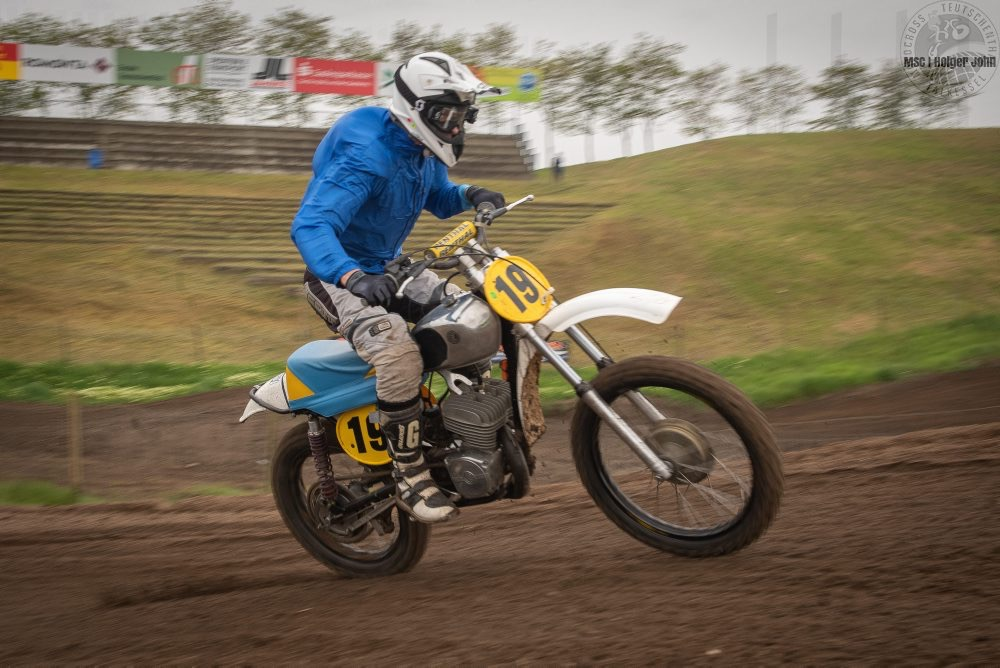 Mike Steude (GER , CZ 380) gewinnt in der Klasse Classic 1 bis 60 - TALKESSEL-CLASSICS - 3. Motocross Classic - 11.05.2019 | Talkessel Teutschenthal