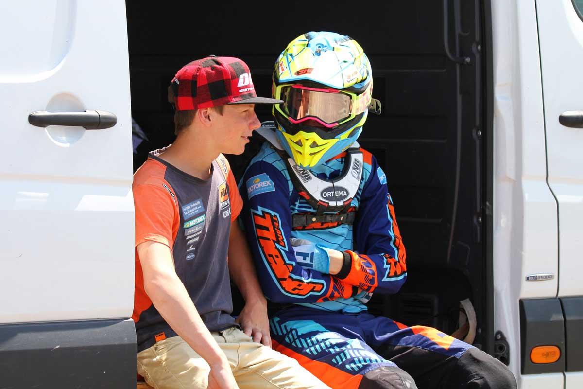 Nick Domann und Noah Ludwig startet in den EMX-Klassen zur Motocross-Weltmeisterschaft 2019